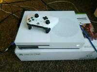 Jvc 49 inch uhdtv with remote but no legs,with xbox one s 1tb bundle with Fifa 18 hardly used