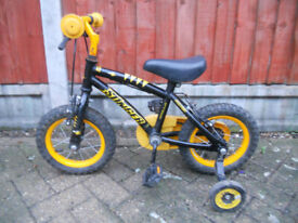 2-5 year old First toddler/junior kids childrens bicycle unisex boys girls with stabilisers