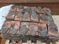Reclaimed ornamental roof tiles