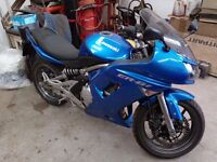 2008 Kawasaki ER6-F low miles with good service and MOT history. Ideal first big bike.