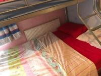 Bunk bed (double and single )