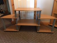 Oak Veneer TV Stand