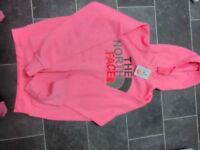 North Face pink hoody brand new
