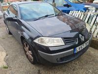 Renault Megane Dynamique vvt111 Convertible 1.6, 2007, ULEZ Compliant, Long MOT & 2 Keys £1195