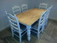 Fabulous 6ft Shabby Chic table and chairs