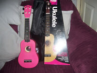 New Puretone Hot Pink Ukulelle.