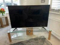 Glass & oak effect TV Unit