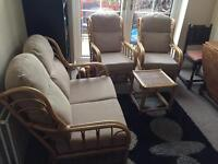 3 piece conservatory suite with table .