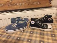 Vans and Converse Infant 4