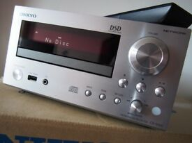 ONKYO CR-N765 NETWORK CD RECEIVER SILVER INTERNET RADIO SPOTIFY DAC, BOXED & VGC