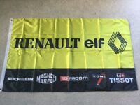 Renault ELF 5 turbo alpine megane rs Clio V6 workshop flag banner