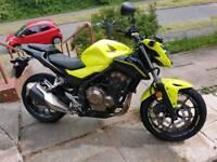 Honda Yellow CB500F Motorbike