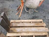 Heavy duty forklift pallet forks suit tractor telehandler etc