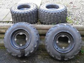 Quad alloy wheels & tyres