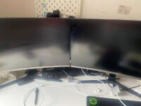 Samsung LC27R500FHUXEN 27-Inch Monitor Hardly used £110 each ONO