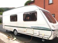 Abbey Aventura 320 - 2003 - 4 berth caravan and Full Awning