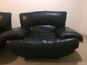 King sofa (full leather) Homebush Strathfield Area Preview
