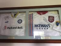 Signed Ian Rush and Ally McCoist jerseys