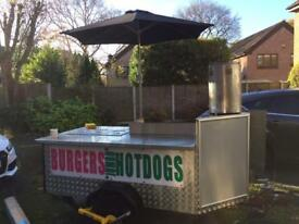 Burgers hot dogs food snack wagon seller catering stall trailer server mobile