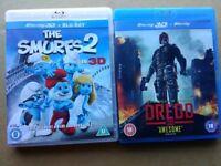 Blu Ray 3D films £3 each