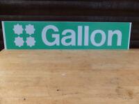 Texaco garage big vintage genuine gallon sign original selling cheap
