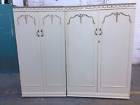 2 Matching French Style Wardrobes