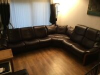 Stressless Corner Sofa & Storage Footstool Excellent Condition