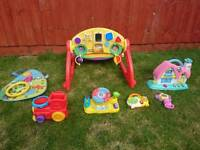Toys v tech, leap frog, little tikes, chicco