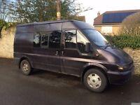 Medium wheel base, semi high top, 6 seater Crew Ford Transit Panel Van