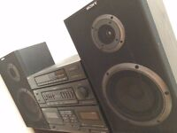 SONY music centre. Very loud and powerful. ( amplifier + speakers )