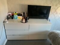White IKEA malm furniture