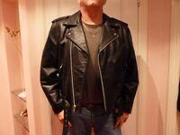 Gents Terminator leather biker style jacket