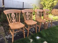 4 x Farmhouse Dining Kitchen Chairs