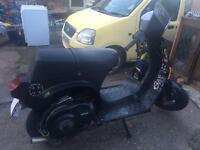 Piaggio Vespa t5 cutdown frame. With v5.
