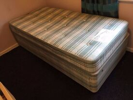 Single divan bed with two drawers and matress barely used!
