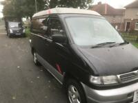 Ford/Mazda bongo campervan registered as motorhome... solar panel fitted for more off grid power.