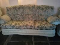 3 Seater Sofa + 2 Armchairs Free