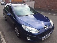 407 SW 1,6 HDI 55 REG IN BLUE MOT MARCH 2018 IN GOOD CONDITION