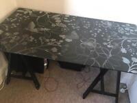IKEA glass desk/table