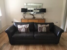 Leather Sofa and 2 matching arm chairs