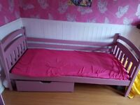 GIRLS PINK JUNIOR BED- MATTRESSES INCLUDED