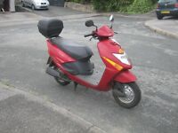 Red Honda Lead Scooter with top box 100cc 04 Plate + 12 mths MOT
