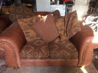 2 & 3 seater fabric/ leather sofas for sale. £120 & £150