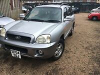Hyundai Santa Fe 2351cc Petrol 5 speed manual 4x4 Estate 04 Plate 16/08/2004 Silver