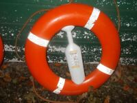 Boat Life Ring with safety line