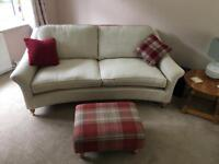 2 x large 2 seater Laura Ashley cream sofas