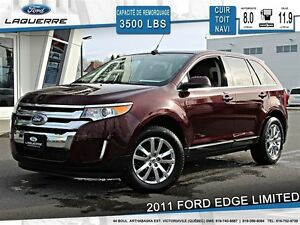 2011 Ford Edge **LIMITED*AWD*CUIR*TOIT*NAVI*CAMERA*CRUISE*A/C**