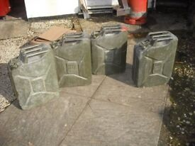 20 LITRE JERRY CANS, FUEL CANS. FOUR IN TOTAL.
