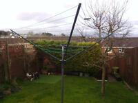 large rotary washing line