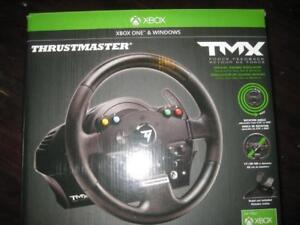 Thrustmaster TMX Racing Steering Wheel for Xbox One / PC Computer Game System. Foot Pedal. Force Feedback. Ergonomic